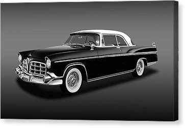 Canvas Print featuring the photograph 1956 Chrysler Imperial Southampton   -   1956imperialhardtopfa170226 by Frank J Benz
