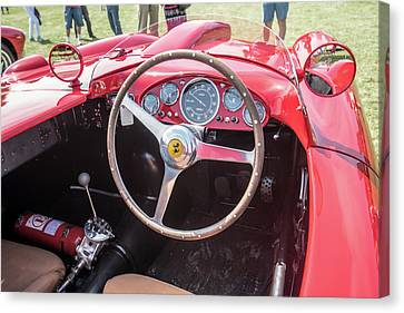 Canvas Print featuring the photograph 1956 Ferrari 290mm - 4 by Randy Scherkenbach