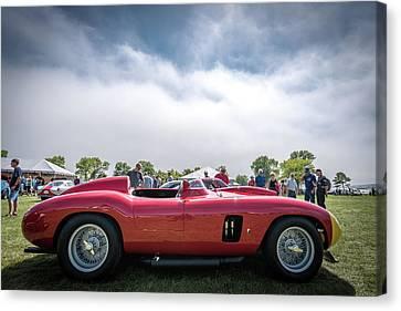 Canvas Print featuring the photograph 1956 Ferrari 290mm by Randy Scherkenbach