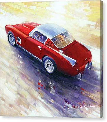 1956 Canvas Print - 1956 Ferrari 410 Superamerica Scaglietti Series by Yuriy Shevchuk