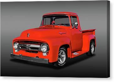 1956 Ford F100 Custom Cab  -  1956f100fdfa9822 Canvas Print