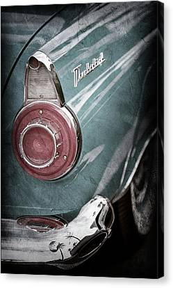 Canvas Print featuring the photograph 1956 Ford Thunderbird Taillight Emblem -0382ac by Jill Reger