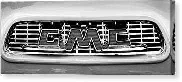 1956 Gmc 100 Deluxe Edition Pickup Truck  Grille Emblem -0584bw Canvas Print by Jill Reger