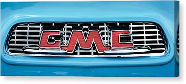 1956 Gmc 100 Deluxe Edition Pickup Truck  Grille Emblem -0584c Canvas Print by Jill Reger