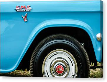1956 Gmc 100 Deluxe Edition Pickup Truck  Side And Wheel Emblems -1498c Canvas Print by Jill Reger