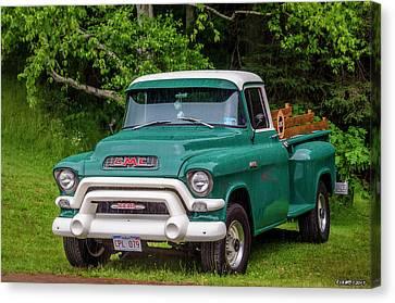 1956 Gmc Pickup Canvas Print by Ken Morris