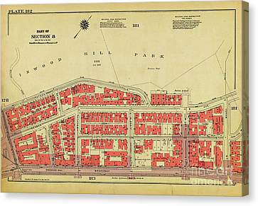 Canvas Print featuring the photograph 1956 Inwood Map  by Cole Thompson