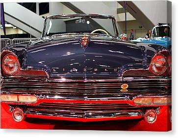 1956 Lincoln Premiere Convertible . Blue . 7d9245 Canvas Print by Wingsdomain Art and Photography