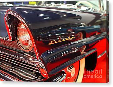 1956 Lincoln Premiere Convertible . Blue . 7d9249 Canvas Print by Wingsdomain Art and Photography