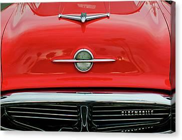 1956 Oldsmobile Hood Ornament 4 Canvas Print by Jill Reger
