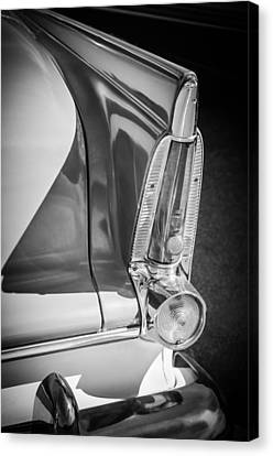 1956 Plymouth Tail Light -ck0233bw Canvas Print by Jill Reger