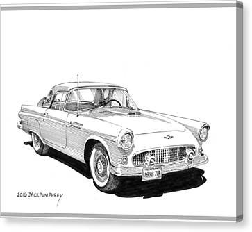 1956 Thunderbird Canvas Print by Jack Pumphrey