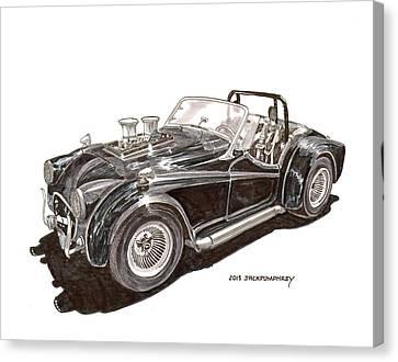 British Hot Rod Canvas Print - 1956 Triumph Street Rod by Jack Pumphrey
