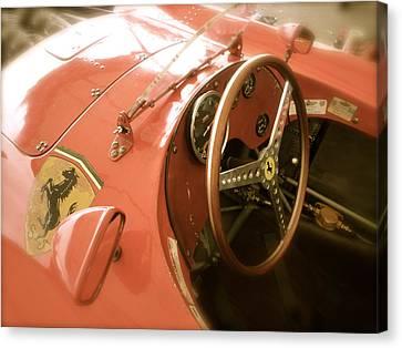1956 Type Lancia Ferrari D50a Cockpit Canvas Print by John Colley