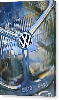 1956 Volkswagen Vw Bug Head Light Canvas Print by Jill Reger