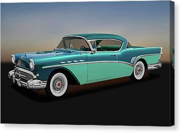 Canvas Print featuring the photograph 1957 Buick Super Riviera 2 Door Hardtop  -  1957buicksuperriviera170431 by Frank J Benz