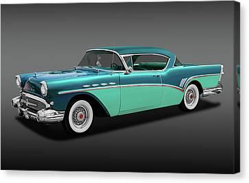 Canvas Print featuring the photograph 1957 Buick Super Riviera 2 Door Hardtop  -  1957buicksuprivierafa170431 by Frank J Benz