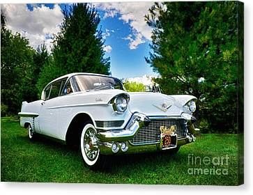 1957 Cadillac Canvas Print by Mark Miller