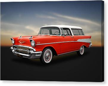 1957 Chevrolet Bel Air Nomad Wagon Canvas Print by Frank J Benz