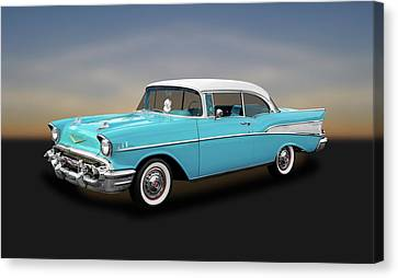1957 Chevrolet Bel Air Sport Coupe   -   57chspcp260 Canvas Print