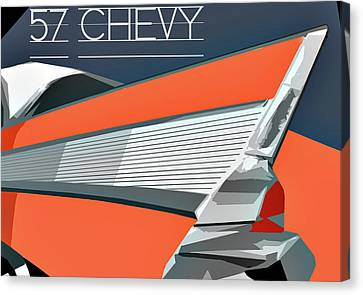 1957 Chevy Art Design By John Foster Dyess Canvas Print