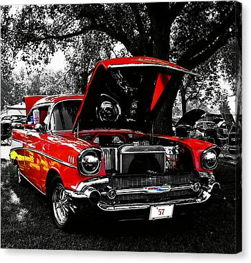 1957 Chevy Bel Air Canvas Print by Chris Berry