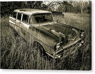 1957 Chevy Wagon Canvas Print by Chris Harris