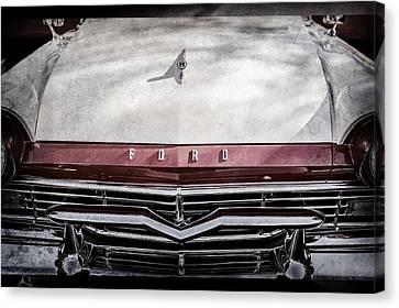1957 Ford Custom 300 Series Ranchero Grille Emblem -0465ac Canvas Print by Jill Reger