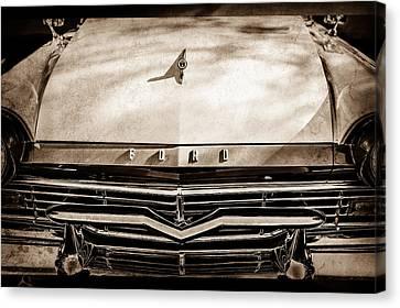1957 Ford Custom 300 Series Ranchero Grille Emblem -0465s Canvas Print by Jill Reger