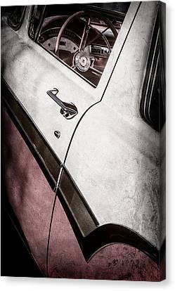 1957 Ford Custom 300 Series Ranchero Steering Wheel -0549ac Canvas Print by Jill Reger