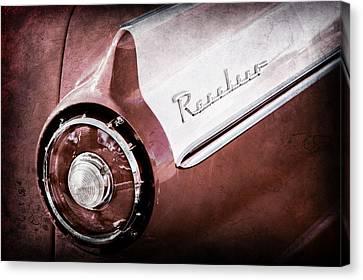 1957 Ford Custom 300 Series Ranchero Tail Light Emblem -1090ac Canvas Print by Jill Reger