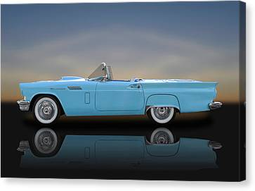 1957 Ford Thunderbird  -  1957tbird010 Canvas Print by Frank J Benz