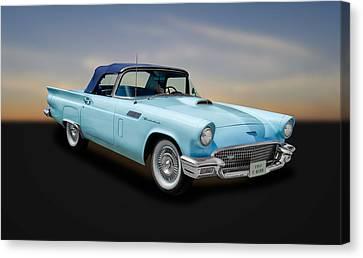 1957 Ford Thunderbird Convertible  -  57fdbridcv890 Canvas Print by Frank J Benz