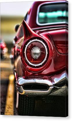 1957 Ford Thunderbird Red Convertible Canvas Print by Gordon Dean II