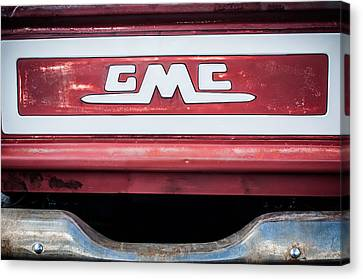 1957 Gmc Pickup Truck Tail Gate Emblem -0272c1 Canvas Print by Jill Reger