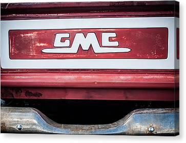 1957 Gmc Pickup Truck Tail Gate Emblem -0272c1 Canvas Print by Jill Reger