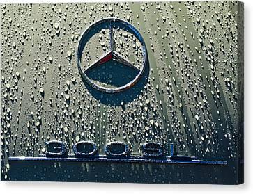 1957 Mercedes Benz 300sl Roadster Emblem Canvas Print