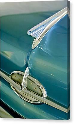 1957 Oldsmobile Hood Ornament 5 Canvas Print by Jill Reger