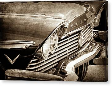 1957 Plymouth Belvedere Grille -0909s Canvas Print by Jill Reger