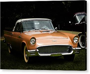 1957 Thunderbird Canvas Print by Patricia Stalter