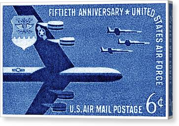 1957 United States Air Force Stamp Canvas Print by Historic Image