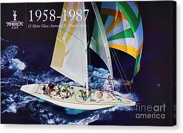 Sausalito Canvas Print - 1958 - 1987 America's Cup History by Chuck Kuhn