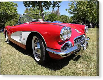 1958 Chevrolet Corvette . 5d16220 Canvas Print by Wingsdomain Art and Photography