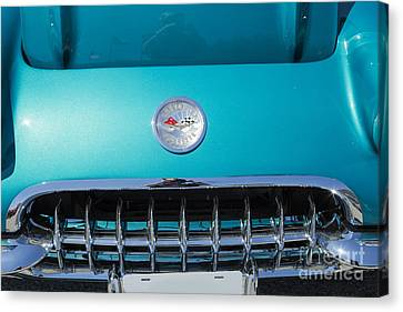 1958 Corvette By Chevrolet Front End And A Color Photograph 3485 Canvas Print by M K  Miller