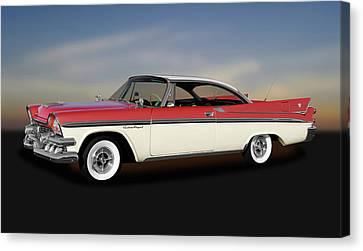 Canvas Print featuring the photograph 1958 Dodge Custom Royal Lancer Super D-500  -  1958dgeroyalsuperd500170482 by Frank J Benz