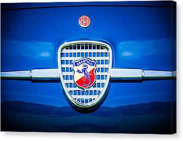 1958 Fiat Abarth-zagato Grille Emblem -1632c Canvas Print