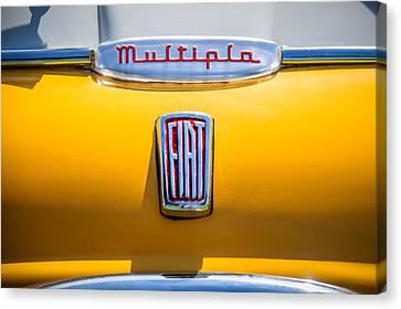 1958 Fiat Multipla Hood Emblems -1651c Canvas Print