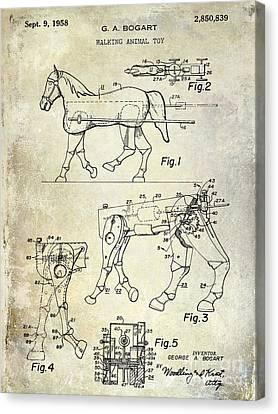 1958 Horse Toy Patent Canvas Print by Jon Neidert