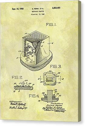 1958 Neutronic Reactor Patent Canvas Print by Dan Sproul