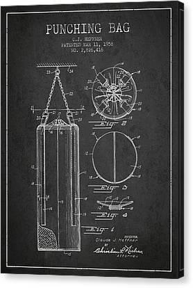 1958 Punching Bag Patent Spbx14_cg Canvas Print by Aged Pixel